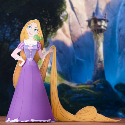 Principessa Rapunzel da stampare e costruire