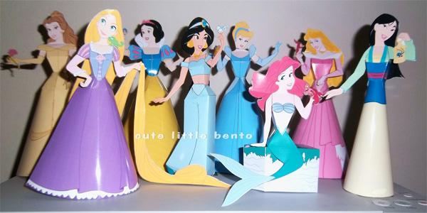 Principesse Disney da costruire con la carta