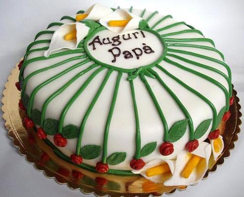 33 torte per la festa del pap con decorazioni in pasta di for Decorazioni per torta 60 anni