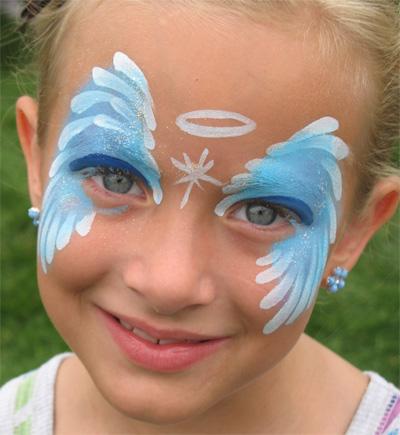Immagine del trucco per il viso da angelo