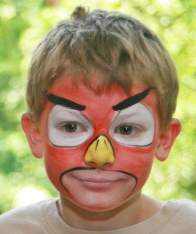 Immagine del trucco per il viso da Angry Birds