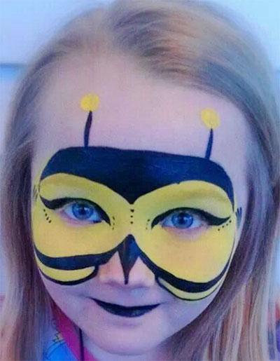 Immagine del trucco per il viso da ape