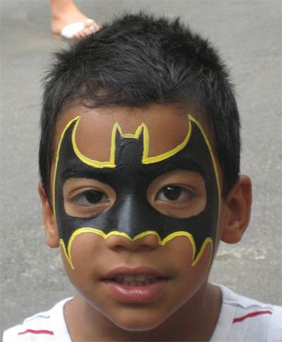 Immagine del trucco per il viso da Batman