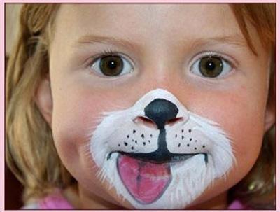 Immagine del trucco per il viso da cane