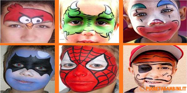 Trucco del viso di bambini per Carnevale