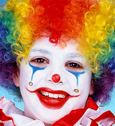 Immagine del trucco per il viso da clown