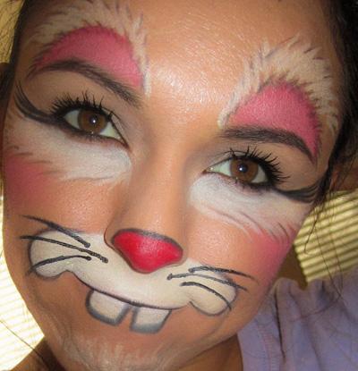 Immagine del trucco per il viso da coniglio