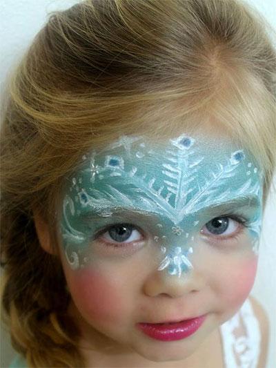 Immagine del trucco per il viso da Elsa di Frozen