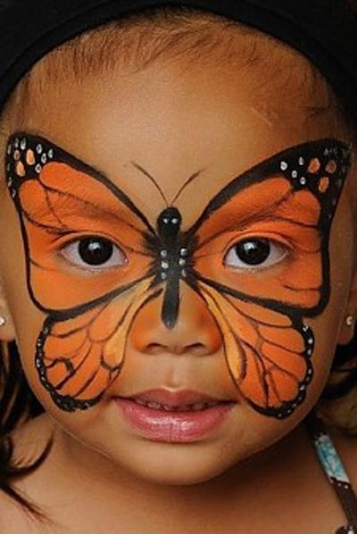 Immagine del trucco per il viso da farfalla
