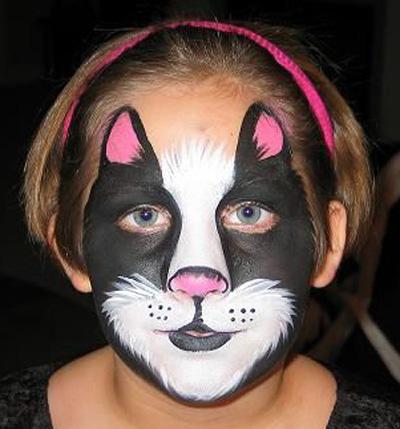 Immagine del trucco per il viso da gatto