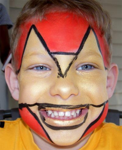 Immagine del trucco per il viso da Iron Man