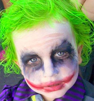 Immagine del trucco per il viso da Joker