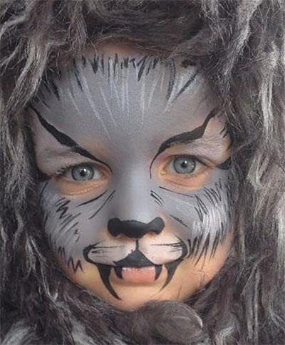 Immagine del trucco per il viso da lupo