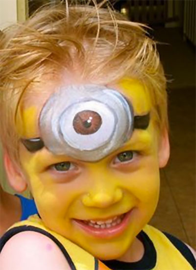 Immagine del trucco per il viso da minions