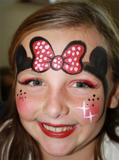 Immagine del trucco per il viso da Minnie