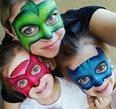 Immagine del trucco per il viso da PJ Masks