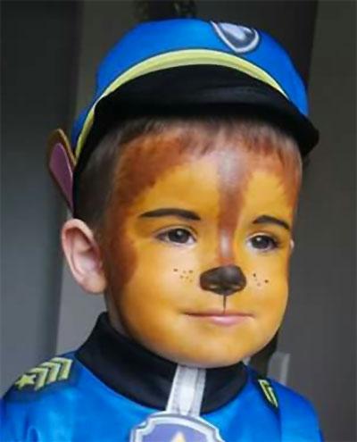 Immagine del trucco per il viso da Paw Patrol