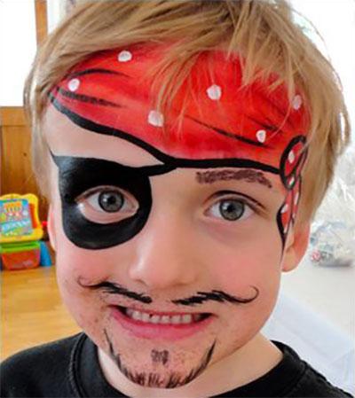 Immagine del trucco per il viso da pirata