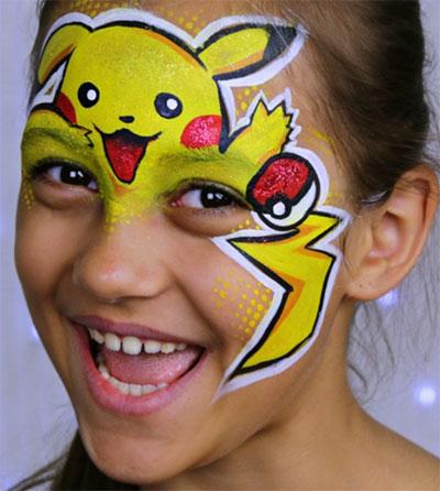 Immagine del trucco per il viso da Pokemon