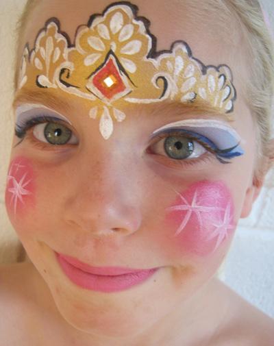 Immagine del trucco per il viso da principessa n.1