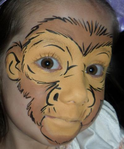 Immagine del trucco per il viso da scimmia