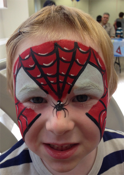 Immagine del trucco per il viso da Spider-Man