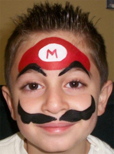 Immagine del trucco per il viso da Super Mario