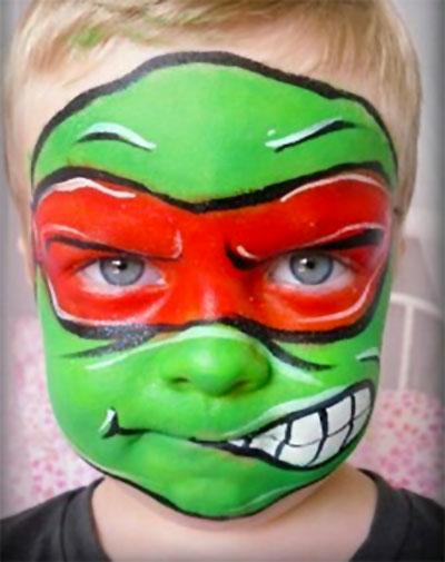 Immagine del trucco per il viso da Tartarughe Ninja