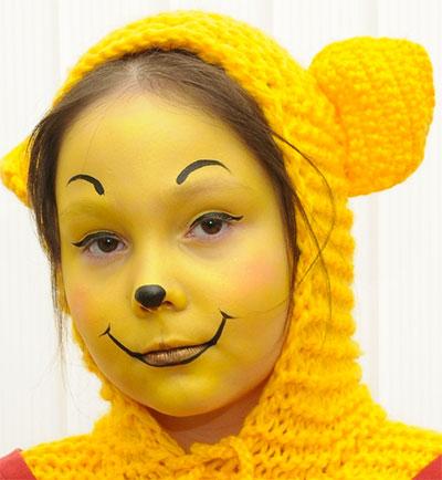 Immagine del trucco per il viso da Winnie The Pooh