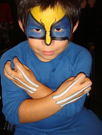 Immagine del trucco per il viso da Wolverine