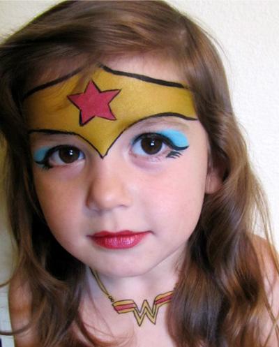 Immagine del trucco per il viso da Wonder Woman