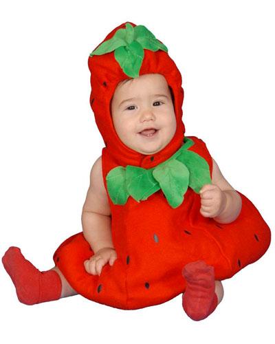 Costume da fragola per neonati