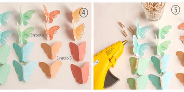 Come piegare le farfalle e aggiungere le mollettine