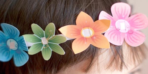 Creare una coroncina di fiori di carta pronti da stampare for Fiori semplici