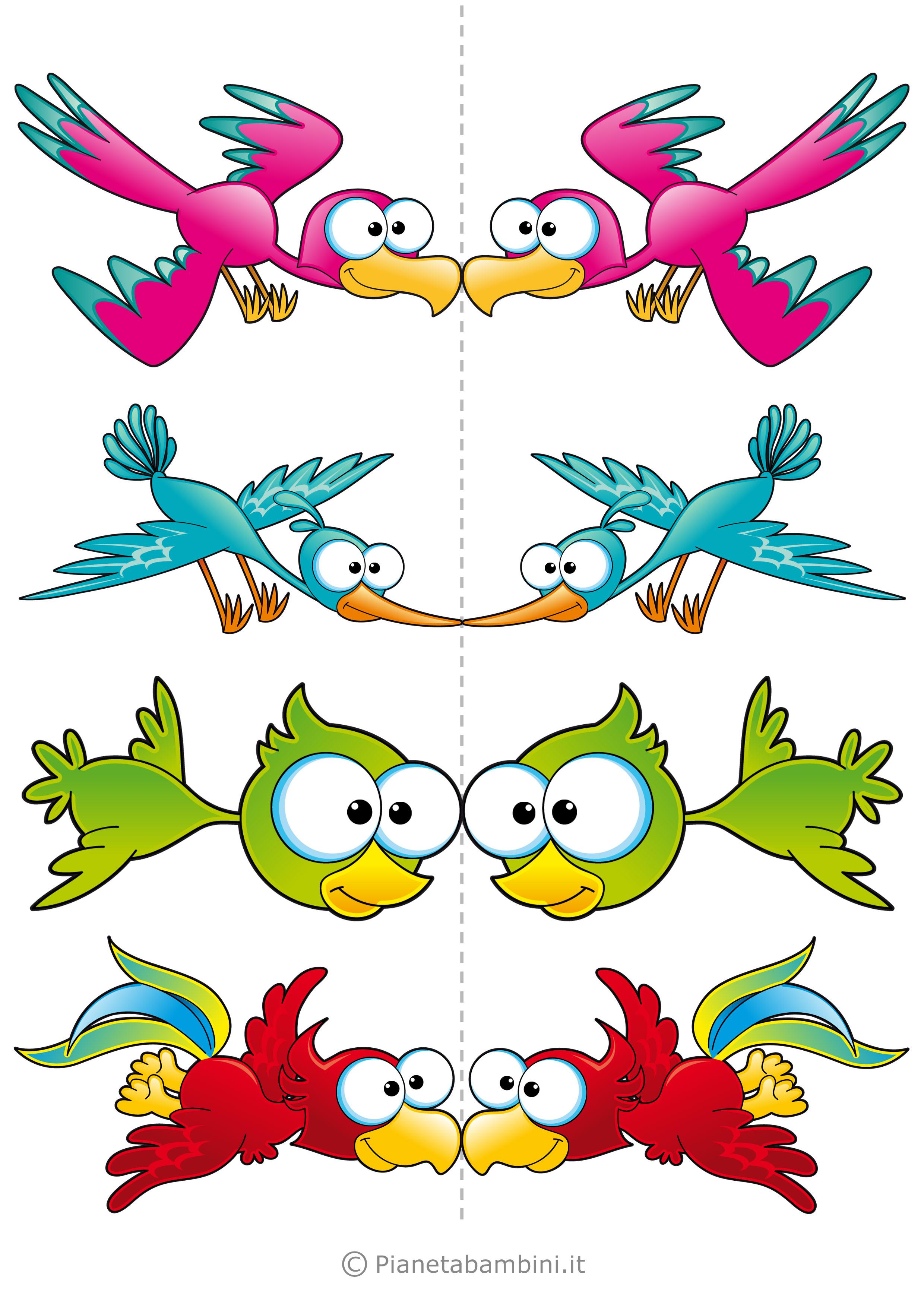 Uccelli colorati da stampare 04