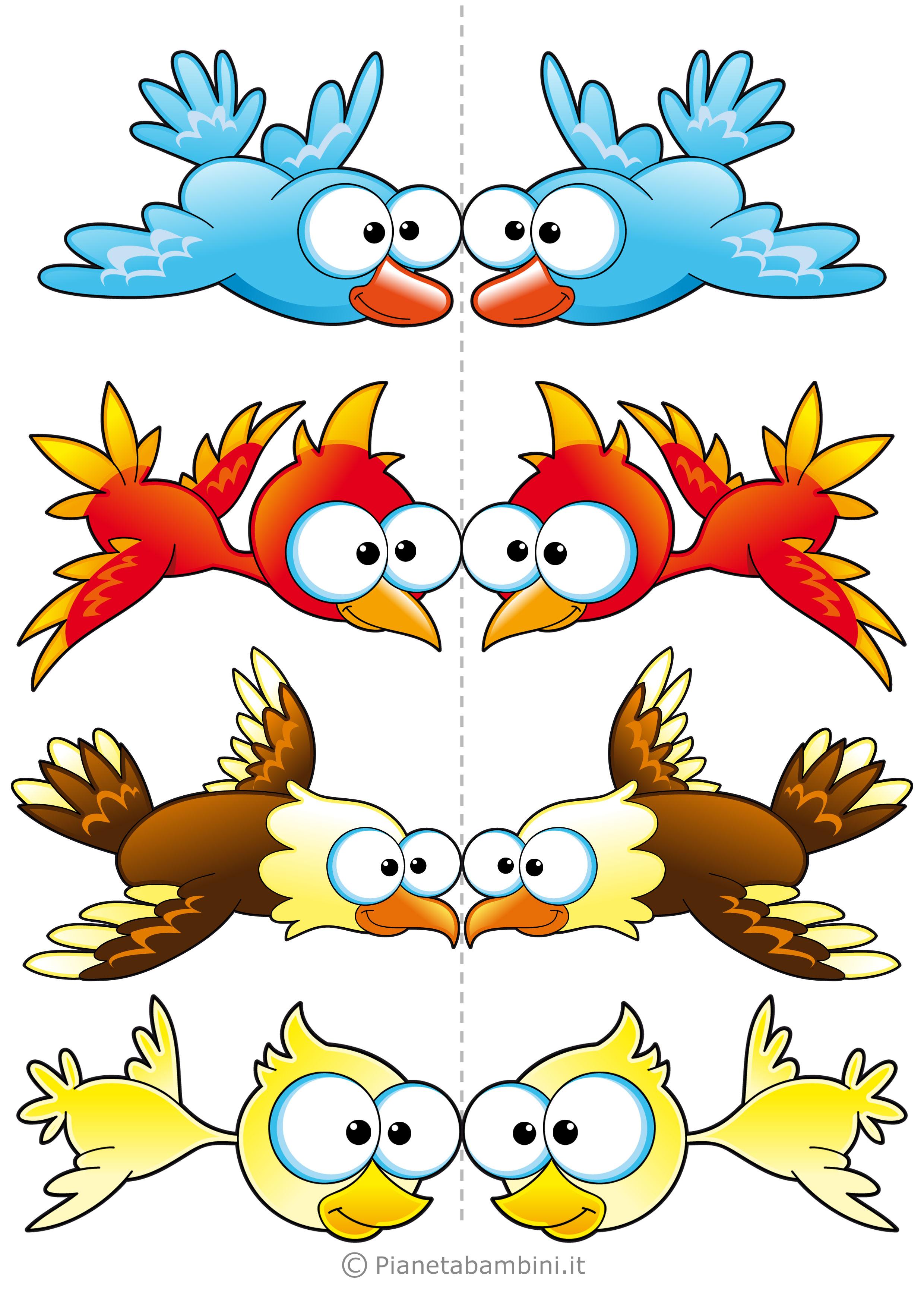 Uccelli colorati da stampare 05