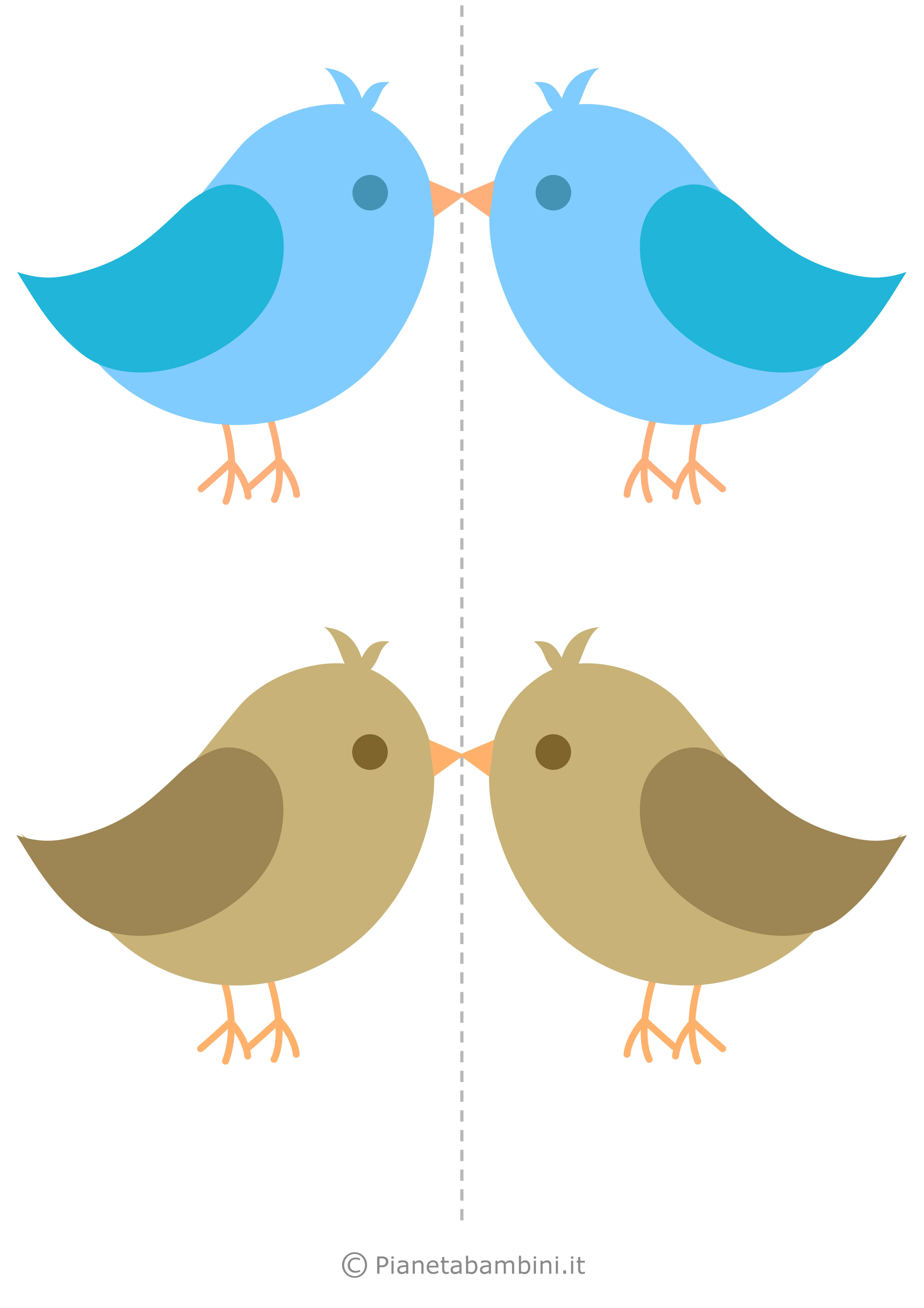 Uccelli colorati da stampare 06