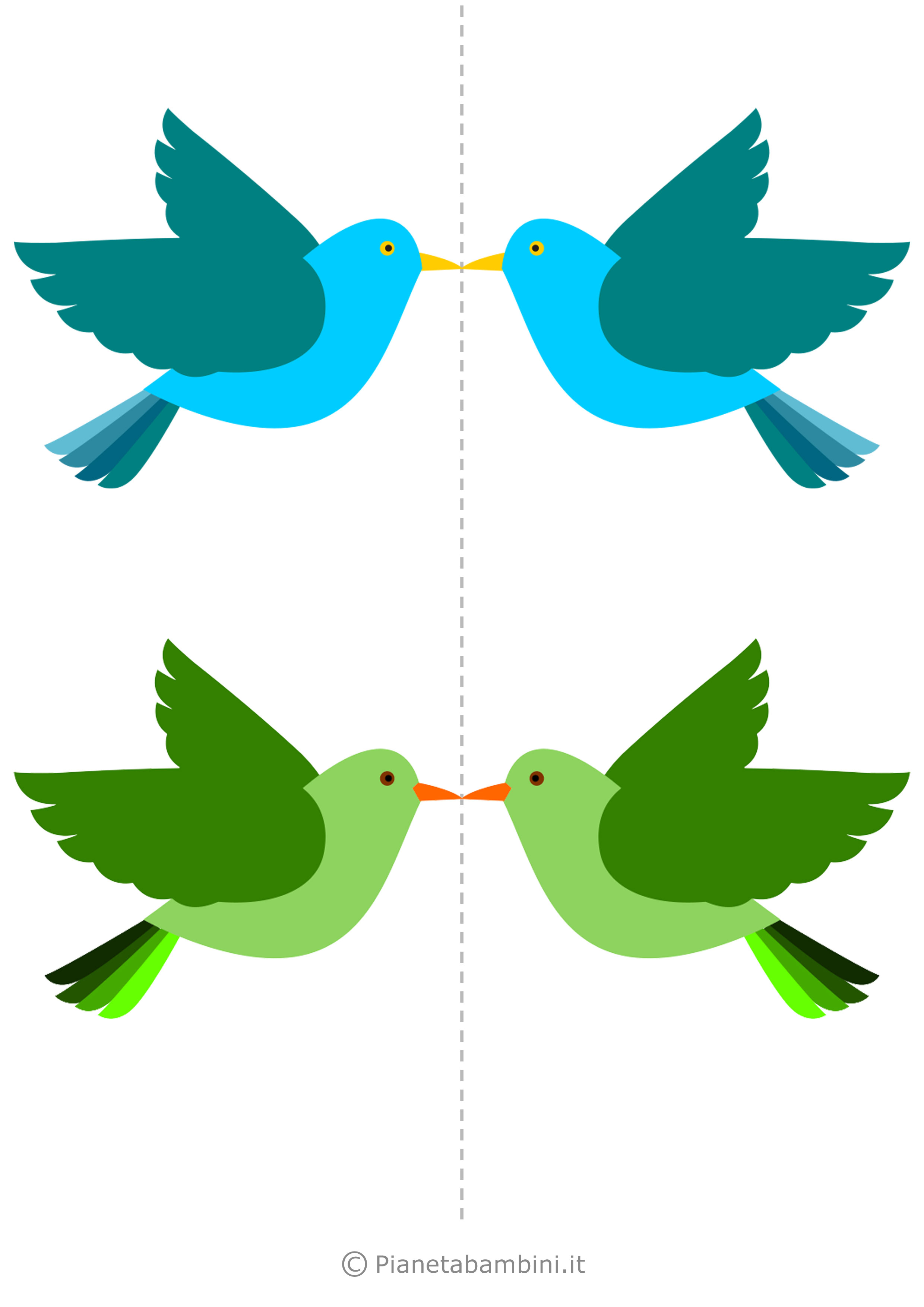Uccelli colorati da stampare 07