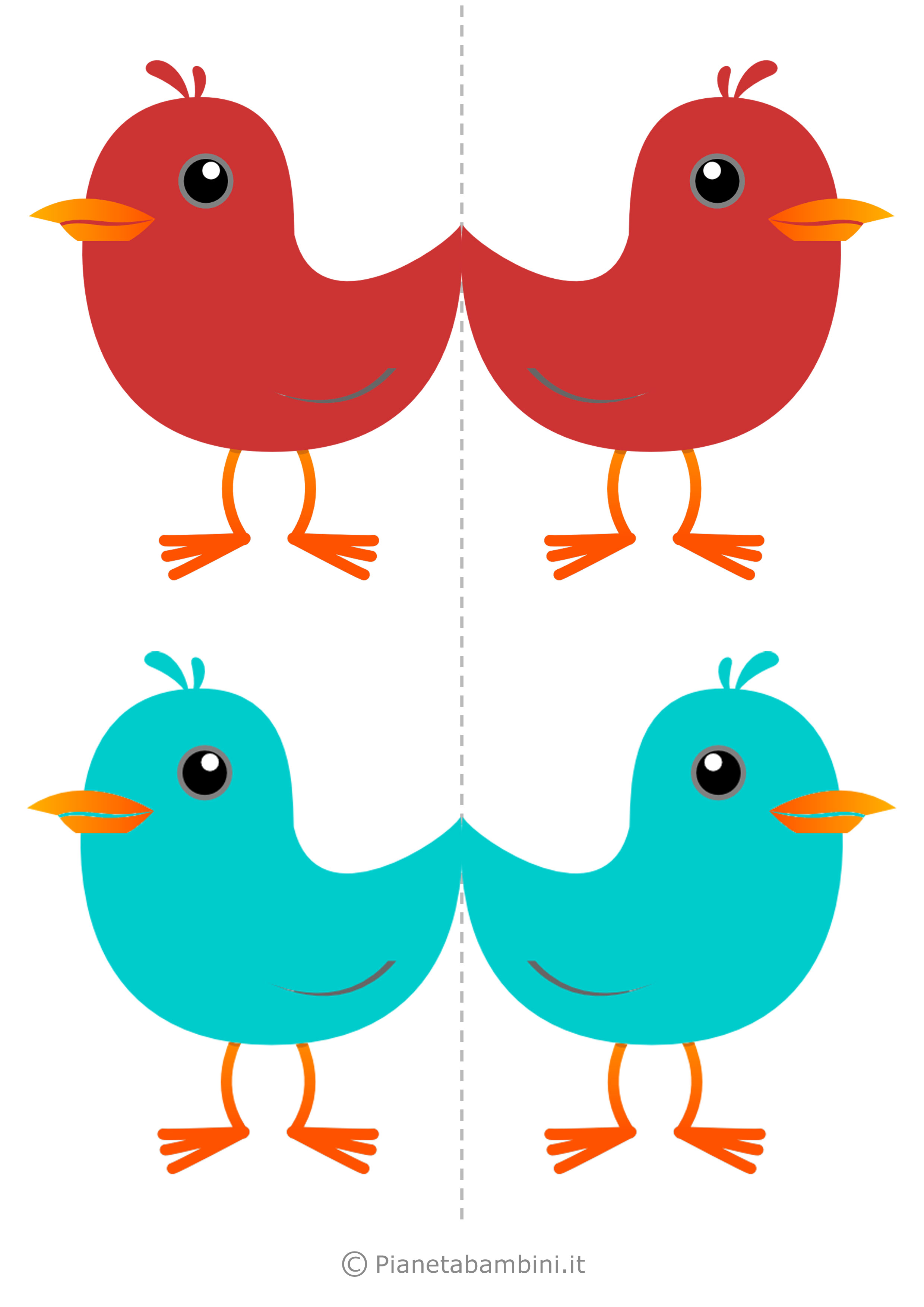 Uccelli colorati da stampare 08