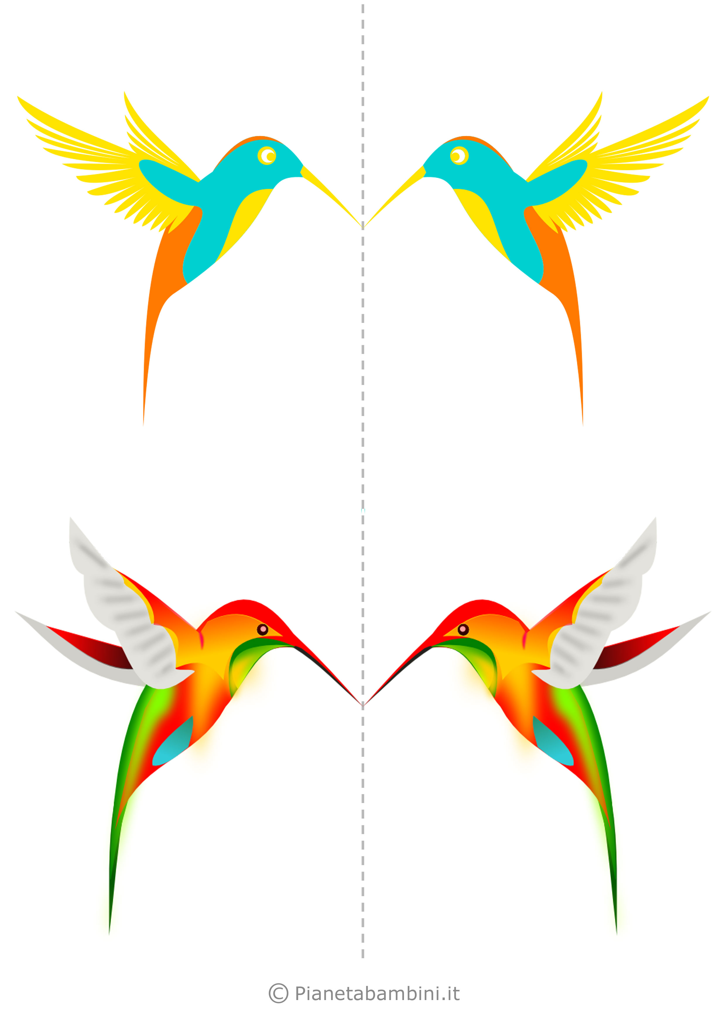 Uccelli colorati da stampare 09