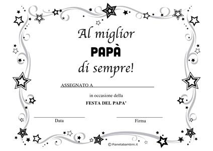 Immagine del diploma per la festa del papà n.4