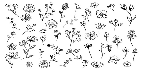 Disegni di fiori di primavera da colorare