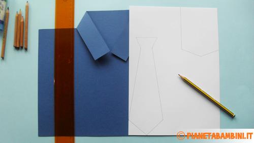 Come disegnare la cravatta ed il taschino