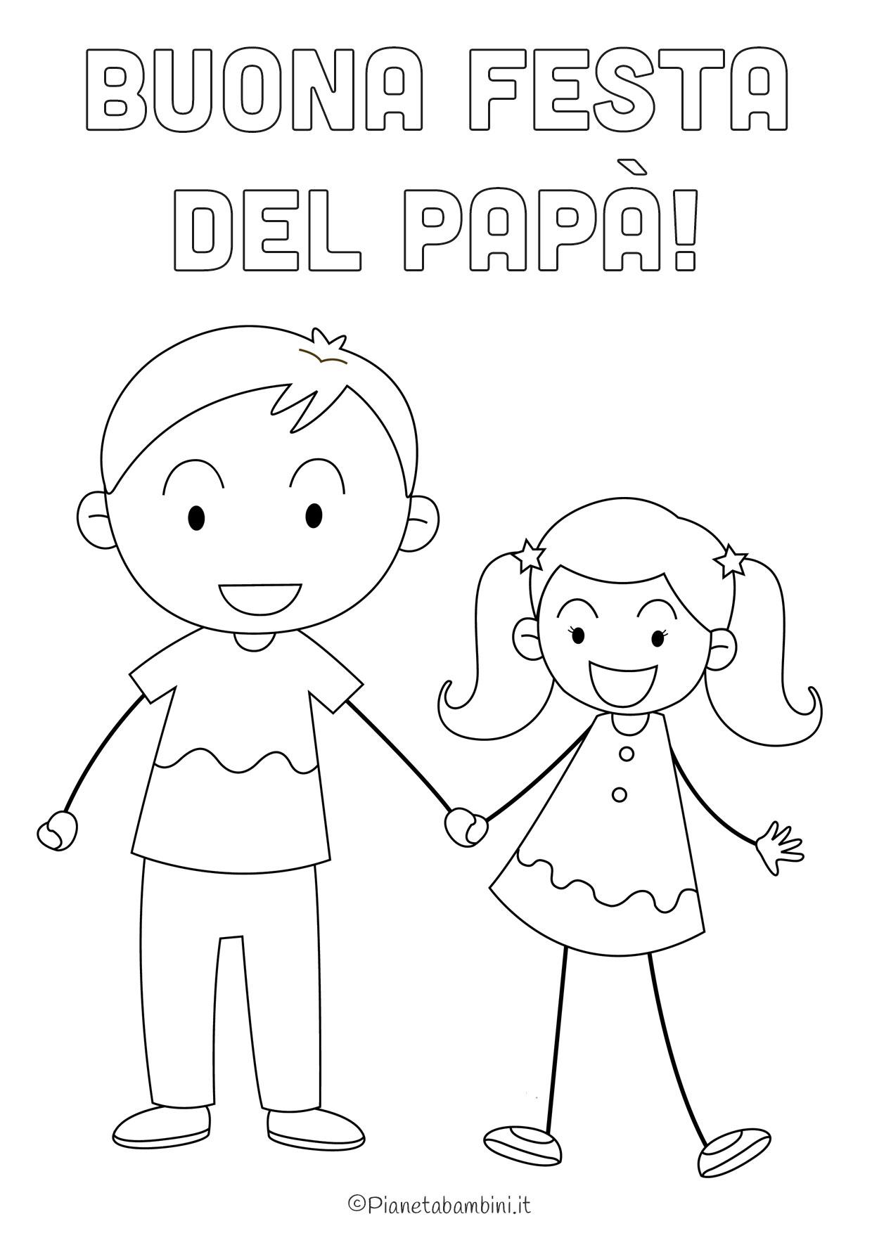 Disegno festa del papà da colorare 02
