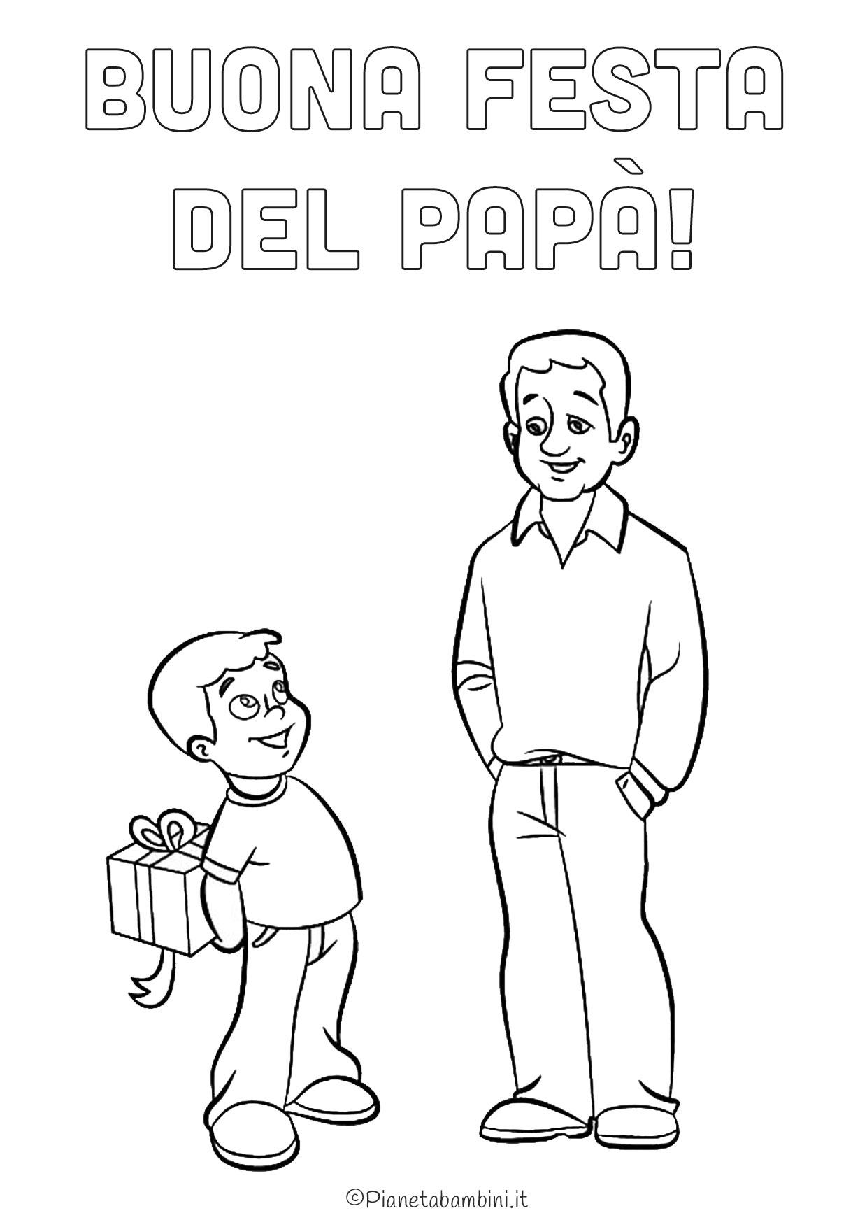 Disegno festa del papà da colorare 03