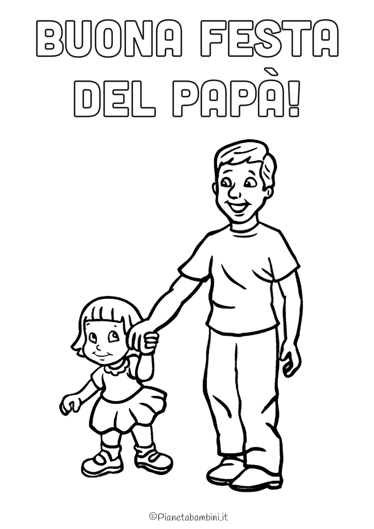 Disegno festa del papà da colorare 04