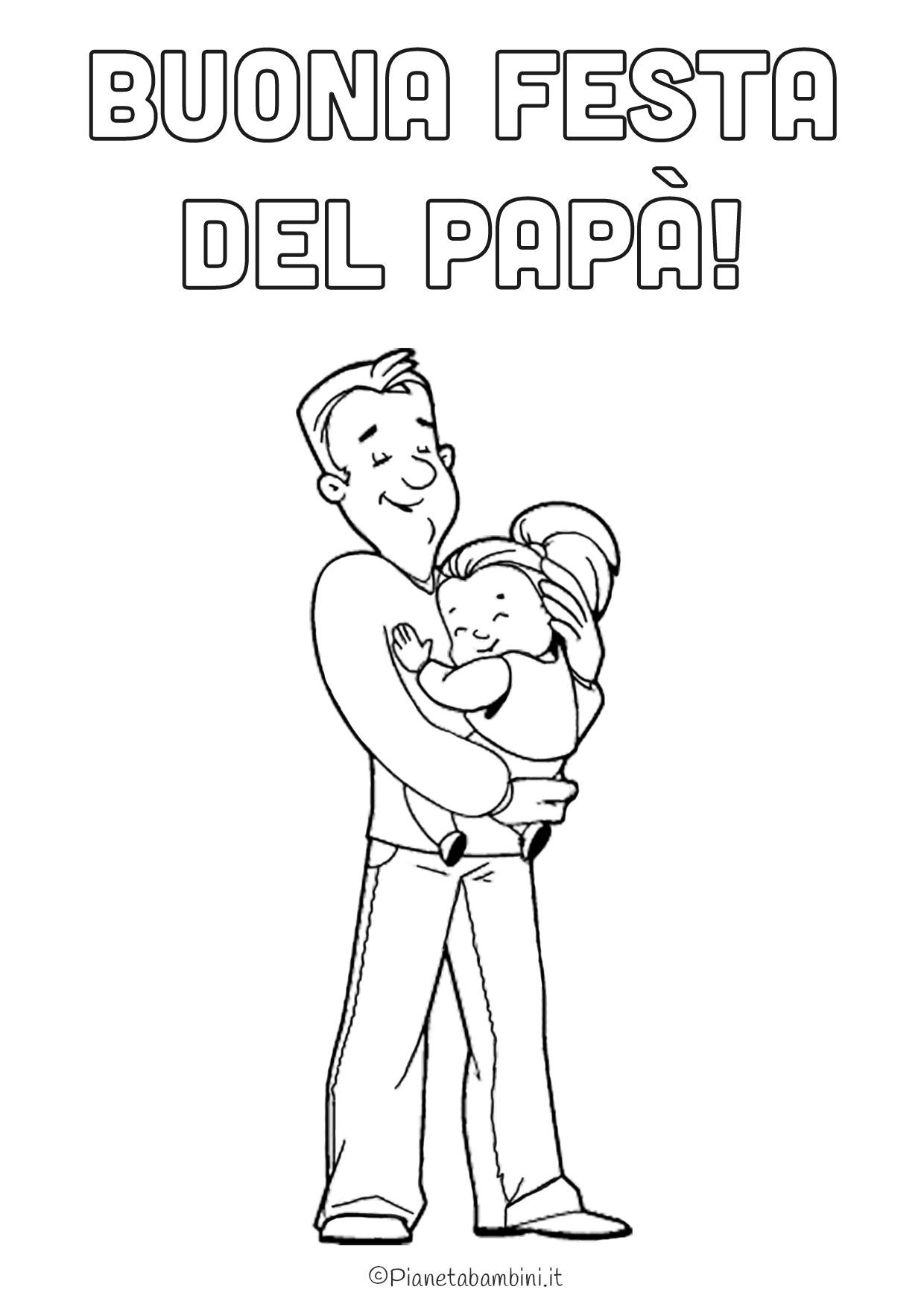 Disegno festa del papà da colorare 05