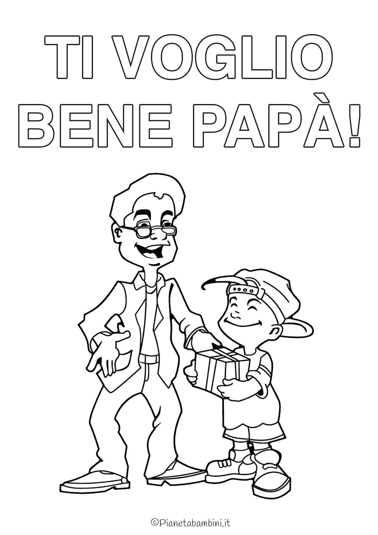 Disegno festa del papà da colorare 09
