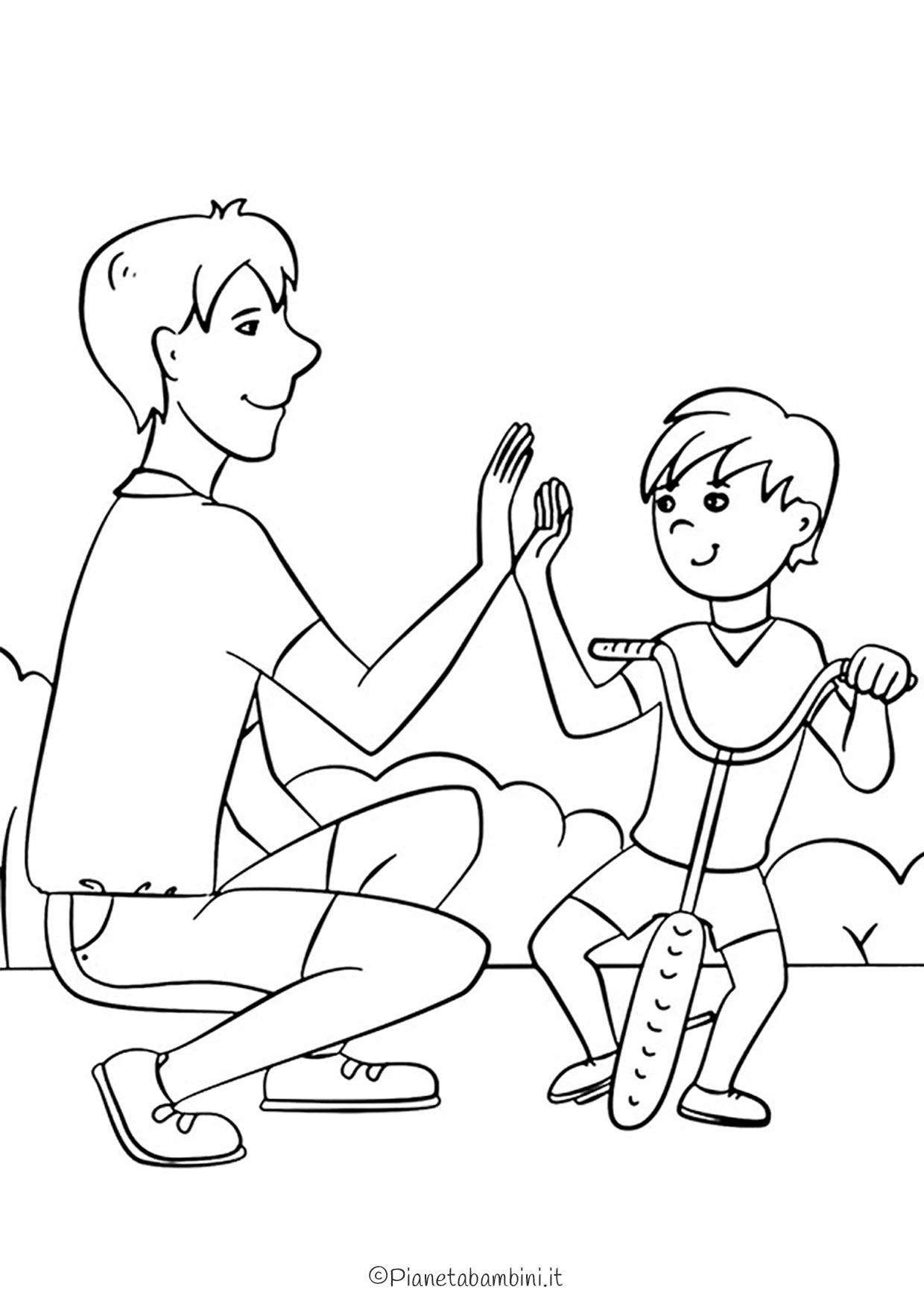 Disegno festa del papà da colorare 11
