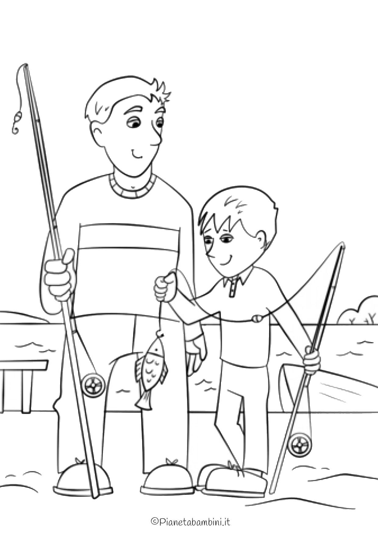 Disegno festa del papà da colorare 12